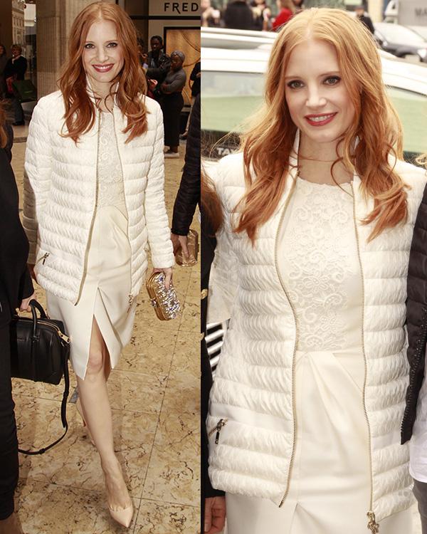 Jessica-Chastain-at-Paris-Fashion-Week-Autumn-Winter-2013-Moncler