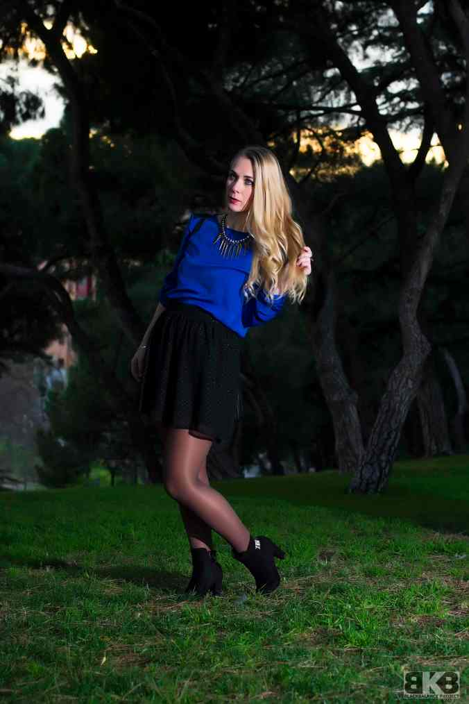 electric blue blouse miss swan 8