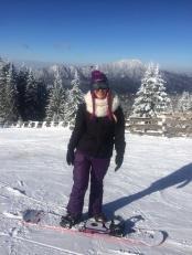 Snowboarding Miss Swan